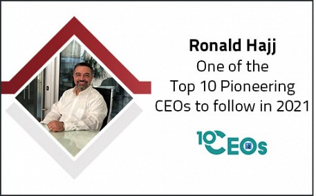 Ronald Hajj, one of the Top 10 Pioneering CEOs to follow in 2021